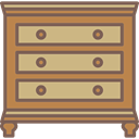 Elegant, Antique, Chest Of Drawers, furniture DimGray icon