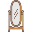 Mirror, Elegant, Antique, furniture Black icon