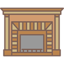Elegant, furniture, Antique, fireplace DimGray icon