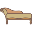 Lounge Chair, Elegant, furniture, Comfortable, Antique Icon