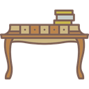 furniture, Antique, desk, Elegant Black icon