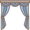 Elegant, Curtains, Blinds, Antique, furniture DimGray icon