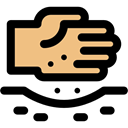 Hand, nature, Crops, Seeds, Farming, planting Black icon