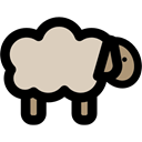 Farm, Farming, Animals, Mammals, Sheep Black icon