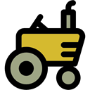 vehicle, Farm, transport, engine, Automobile, tractor Black icon