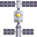 technology, space, Astronomy, Satellite Station, galaxy, space station Black icon
