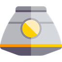 science, vehicle, transport, Automobile, Space Capsule Silver icon