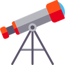 telescope, Tools And Utensils, Observation, space, science Black icon