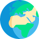 worldwide, global, Geography, Maps And Flags, Planet Earth DodgerBlue icon