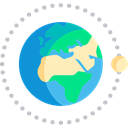 worldwide, Astronomy, Planet Earth, Moon, Geography, global, Maps And Flags Black icon