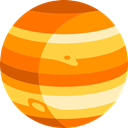 Astronomy, solar system, planet, science, Jupiter DarkOrange icon
