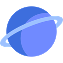 planet, uranus, Astronomy, solar system, science CornflowerBlue icon