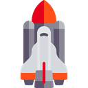 space, transport, galaxy, Space Shuttle Black icon