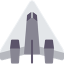 Space Ship, transport, airplane, Plane Lavender icon