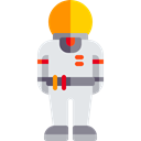 Astronaut, job, Occupation, Avatar, profession, people, galaxy, Aqualung, space Black icon