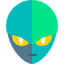 Alien, galaxy, space, Avatar, extraterrestrial, people, Ufo DarkTurquoise icon