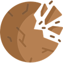 Astronomy, Destroyed Planet, galaxy, science, space Sienna icon