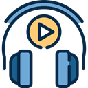 technology, Headphones, Microphone, customer service, support, Telemarketer MidnightBlue icon