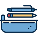 pencil case, education, Tools And Utensils, Writing Tool MidnightBlue icon