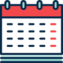 time, Organization, Schedule, date, Calendar, Calendars, Administration MidnightBlue icon