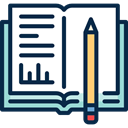 pencil, homework, education, Book MidnightBlue icon