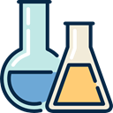 chemical, education, laboratory, Flasks, Chemistry MidnightBlue icon