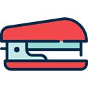 Tools And Utensils, Office Material, School Material, stapler Tomato icon