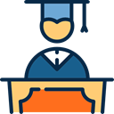 Man, Boy, mortarboard, Cap, education, people, Graduate MidnightBlue icon