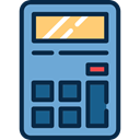 technology, calculator, Calculating, Tools And Utensils, Technological, maths CornflowerBlue icon