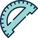 Rule, School Material, Tools And Utensils, Protractor, Measuring Utensils Icon