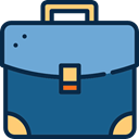 luggage, Briefcase, Tools And Utensils, baggage, Business, travelling Teal icon