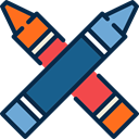 write, education, Draw, Crayon, Crayons, Tools And Utensils, Pen MidnightBlue icon