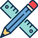 ruler, Tools And Utensils, settings, tool, Edit, pencil MidnightBlue icon