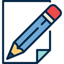document, paper, list, Tools And Utensils, medical, Prescription, pencil MidnightBlue icon