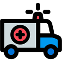 Automobile, medical, transport, Ambulance, emergency, vehicle Black icon