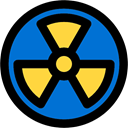 Radioactivity, Biological, medical, warning, signs, dangerous, Radioactive, Signage, signal DodgerBlue icon