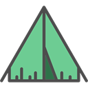 Tent, rural, woods, Camping, nature, Forest MediumAquamarine icon