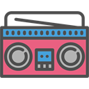 radio, technology, retro, cassette, vintage, musical, Radio Box, music DarkSlateGray icon