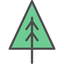 Pine, spruce, Botanical, nature, Tree Black icon