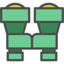 Goggles, see, Binoculars, sight, Tools And Utensils, Eye, spy MediumAquamarine icon