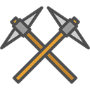 dig, Tools And Utensils, Improvement, Miner, pick Black icon
