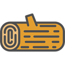 Log, nature, wooden, wood DarkSlateGray icon