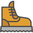footwear, Boot, Clothes, fashion, Climbing DarkSlateGray icon
