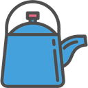 Tools And Utensils, Coffee Pot, hot drink, kitchenware, kettle CornflowerBlue icon