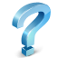 question, mark SkyBlue icon
