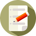 document, pencil, Signing, Business, Agreement, contract, Signature DarkKhaki icon