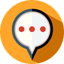Multimedia, speech bubble, Speech Balloon, chatting, Message, Chat, Conversation Goldenrod icon