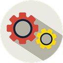 Tools And Utensils, setup, Options, tool, cogwheel, settings Beige icon