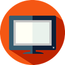 technology, television, screen, monitor, Tv OrangeRed icon