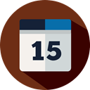 Administration, Calendar, time, Organization SaddleBrown icon